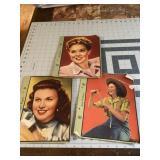 Lot of 3 20th Century Fox Movie Star Cards
