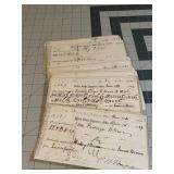 Mid 1800s US Appraiser Office Documents