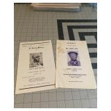 Lot of 2 African American Funeral Announcements