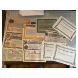Huge lot of Stock Certificates Some NIce Stuff