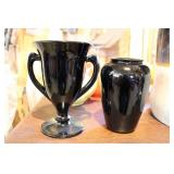 Black Amethyst Vases