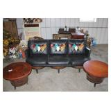 Vintage Sofa & End Stands