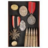 Collection of WWII Nazi German Medals & Badges