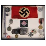 Collection of WWII Nazi Medals, Pins, Etc