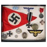 Group of WWII Nazi Germany Badges, Pins
