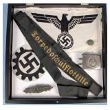 Collection of WWII Nazi Germany Buckle, Band, Etc.