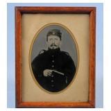 Civil War Union Solider w/ Pepper-Box Pistol Photo