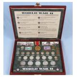 WWII Commemorative Collection Coins, Stamps, Etc