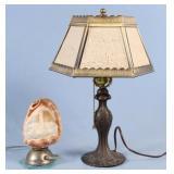 Lithophane Shaded Lamp & Cameo Shell Night Light