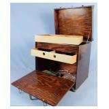 Custom Built Fishing Tackle Box w/ Metal Corners