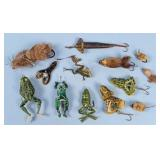 Group of Frog and Natural Hair Fishing Lures