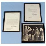 Sgd Letter U.S. General Mark Clark & Omar Bradley