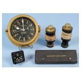 Group of U.S. Clocks, Beacons, Compasses