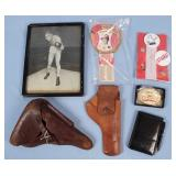 P38 Holster, Joe Louis Photo, NRA Items, Etc