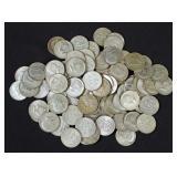 82 Silver Clad Kennedy Half Dollars, 40% Silver