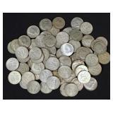80 Silver Clad Kennedy Half Dollars, 40% Silver