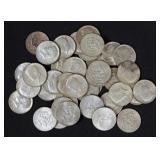 38 Silver Clad Kennedy Half Dollars, 40% Silver