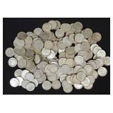 188 Franklin Roosevelt Silver Dimes, 90% Silver