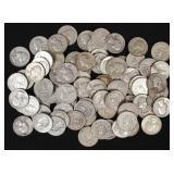 85 U.S. Washington Silver Quarters, 90% Silver