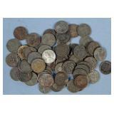 62 U.S. War Time Lincoln Wheatback Steel Pennies