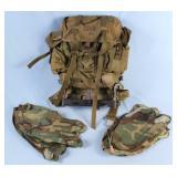 Vietnam War Era U.S. Army Nylon Rucksack Backpack