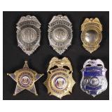 Six Police, Patrolman, Sergeant Badges