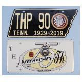 Two TN Highway Patrol Anniversary License Plates