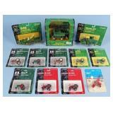 12 Ertl Toy Tractors or Equipment, John Deere Etc.