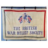 WWI British War Relief Society of America Flag