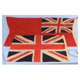 Two WWI Era British Flags