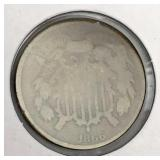1866 Two Cent Coin