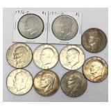 10 Ike Dollar Coins