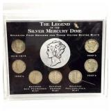 Legend of the Silver Mercury Dime Coin Set