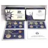 4 - 1999 US Mint Proof Sets