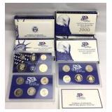 6 - 2000 US Mint Proof Sets