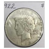 1922 Peace Dollar Coin
