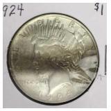 1924 Peace Dollar Coin