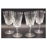 Set of 4 Waterford Crystal Stemmed Wine Glasses