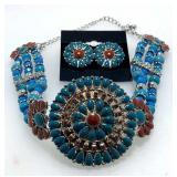 Faux Turquoise Coral Set