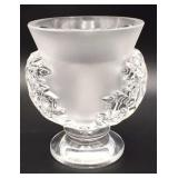 Lalique Crystal St. Cloud Pedestal Bowl