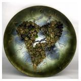 H. Ratliff Signed Enameled Copper Platter