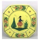 HB (Hubaudiere-Bousquet) Quimper Plate