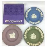 3 Wedgwood Jasperware Round 3 Solt Ashtray