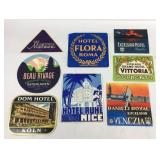 Vintage Hotel and Travel Stickers