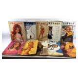 Lot of 10 Vintage Playboy Magazines