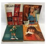 Lot of 4 Vintage Playboy Magazines