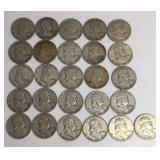 26 - Franklin Half Dollar Coins