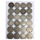 24 Assorted US Nickel Coins