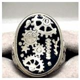 G and S Watch Gear Ring
