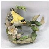 Cybis Yellow Bird on Branch and Floral